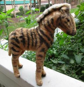 "1910 -1920 STEIFF Underscore ""f"" Mohair  Straw Stuffed Zebra"