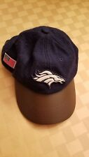 Denver Broncos gridiron NFL classic Reebok leather blue wool Adjustable Hat/Cap