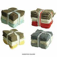 Super Soft 48 PC 100% Cotton Washcloths Big Value (Assorted Colors)