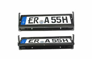 EU flipper plate license revolving HQ reg car number 520x112 mm rotate flipping