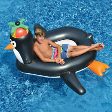 "Swimline 66"" Giant Penguin Inflatable Animal Bird Ride On Swimming Pool Float"