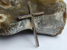 Linea Uomo Donna in Acciaio Inox Argento Ciondolo Croce Religioso Preghiera 62x38x4.8mm