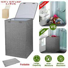 Laundry Hamper Basket Clothes Storage Bag Sorter Bin Organizer w/ Lid Handles