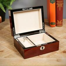 STRATTON WOODEN HIGH GLOSS FINISH JEWELLERY BOX WITH LOCK