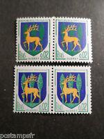 FRANCE 1962, timbre 1351B, VARIETE COULEURS, ARMOIRIES GUERET, neufs** MNH STAMP