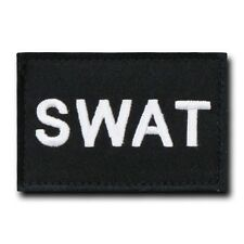 "Black SWAT Special Weapons & Tactics Tactical Canvas Patch Decal 3"" X 2"""