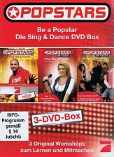 DVD-BOX NEU/OVP - Popstars - Be A Popstar - Die Sing & Dance DVD Box - 3 DVDs