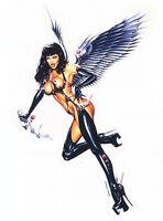 Huerta ANGEL OF DEATH GOTH Warrior STICKER/CAR DECAL