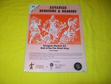 G3 HALL OF THE FIRE GIANT KING DUNGEONS & DRAGONS AD&D - 1 UK EDITION GW RARE