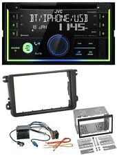 JVC MP3 Bluetooth USB CD 2DIN AUX Autoradio für VW Caddy Golf 5 6 Jetta ab 2003
