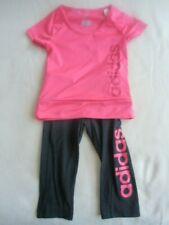 adidas Sportanzug Gr. 110/116 Pink/Schwarz 2-teiler