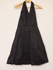 KOOKAI noir ajustement et Flare Dos-Nu Robe Taille 38 (UK 10) Bnwt