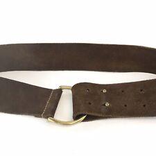 "Gap Ladies Brown Leather Suede Jeans Trouser Hip Waist Buckle Boho Belt Sz 38"""