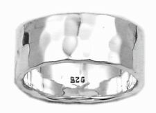 Hammered Finish Ring Sterling Silver 925 Best Unisex Jewelry USA Seller Size 10