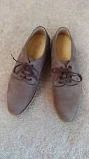 Rare Giorgio Armani Mens Brown Leather Nubuck Lace-up Oxford Shoes Size 10.5M