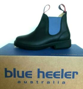 Blue Heeler Tasman Kinder-Boots, Stiefelette, schwarz / sky , 2. Wahl !