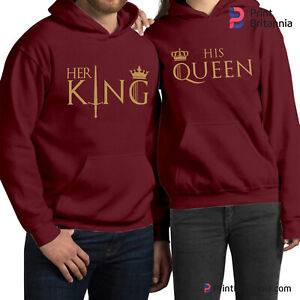 HER KING HIS QUEEN COUPLE MATCHING HOODIES   POKER KING QUEEN  HOODIE (109)