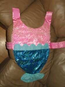 NWOT Girl Dog Mermaid Thrills & Chills Halloween Costume, L