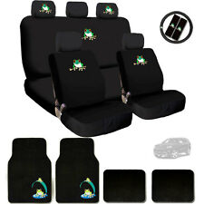 New Semi Custom Frog Logo Car Seat Covers Steering Wheel and Mats Set For Jeep