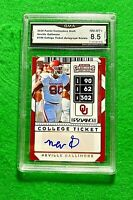 NEVILLE GALLIMORE ROOKIE CARD GRADED 8.5 NM-MT COWBOYS 2020 PANINI CONTENDERS DP