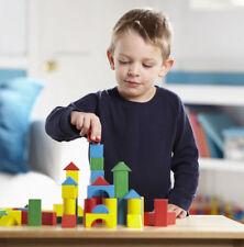 Melissa & Doug Wooden Building Blocks Set # 481. 100 Blocks