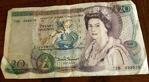 Old England 20 Pound Note Queen Elizabeth