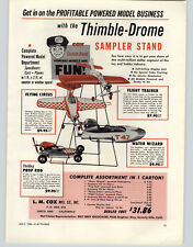 1956 PAPER AD Cox Thimble Drome Store Display Stand Toy Gas Motor Prop Rod Car