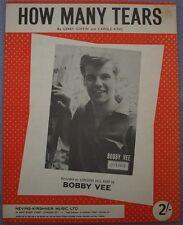BOBBY VEE HOW MANY TEARS Vintage Sheet Music England POP 1960s London Records