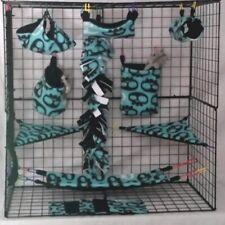 Big Eye Skull *15 Pc Sugar Glider Cage set * Rat * double layer Fleece