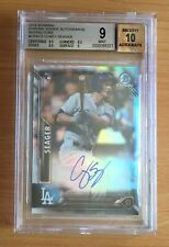 Corey Seager 2016 Bowman Chrome RC Refractor Auto 346/499 BGS 9 Dodgers