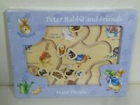 🌟NEW Peter Rabbit & Friends Wooden Maze Puzzle by Russimco