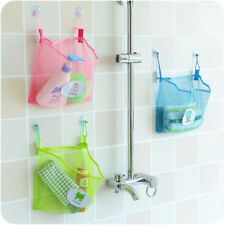 Bath Time Tidy Storage Toy Suction Cup Bag Mesh Bathroom Organiser  JX