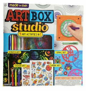 Art Box Studio Spiral Art Set 4 Art Activities In 1 Shrink Scratch Made By Me