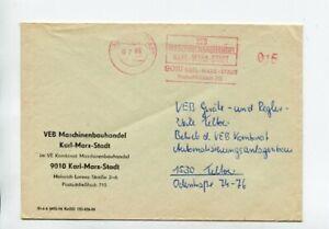 DDR Brief Absenderfreistempel Karl Marx Stadt 1985 Rahmen um Wertziffer fehlt !!