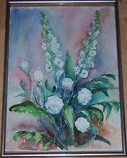 Original-der-Zeit Originalgemälde über Stillleben (1900-1949) mit Expressionismus auf Blume, Frucht & Pflanze