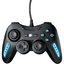 NEW PowerA PS3 AIRFLO Wired Game Controller 220030 Cooling Gamepad Blue LEDs