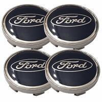 4x 60mm Ford bleue argent jantes couvercle moyeux capuchon roue enjoliveur caché