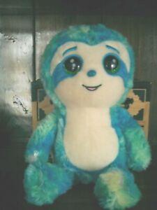"Russ Lil Peepers Soft Jade the Blue Sloth plush stuffed animal toy 12"""