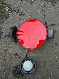 Vauxhall Corsa D Red Complete Petrol Fuel Flap & Cap