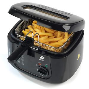 Electric Deep Fat Fryer Easy Clean Non-stick Chip Pan & Basket 2.5 Litre 1800W