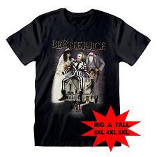 Beetlejuice T Shirt OFFICIAL Movie Poster Tim Burton Betelgeuse Black 3XL 4XL 5X
