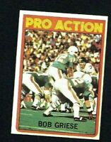 NMT 1972 Topps #132 Bob Griese Pro Action HOF.