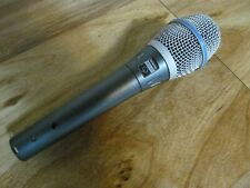 Shure BETA 87A pro wired vocal condenser mic microphone supercardioid (used)