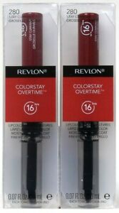 2 Revlon 0.07 Oz Colorstay Overtime 280 Stay Currant 16 Hr Lipcolor & Topcoat