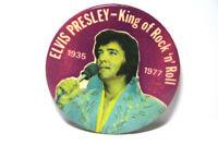 "Elvis Presley 1935-1977 Button Pinback ""King of Rock 'n' Roll"""