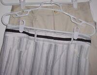 Talbots capri lot of 2 cropped pants 8 Petite khaki & black stripe on white