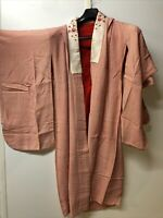 """Vintage Japanese kimono,SILK,IRO-UCHIKAKE"""" Women' Girls Robe Pink Red Lucky"""