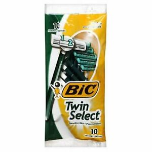 Bic Bic Twin Select Shavers For Men Sensitive Skin, 10 each (Pack of 2)