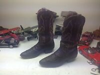 VINTAGE DISTRESSED NOCONA USA BROWN LEATHER WESTERN TRAIL BOSS WORK BOOTS 9 D