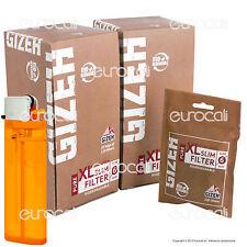 2400 Filtri GIZEH PURE XL Slim Lunghi 6mm Biodegradabili 20 Bustine da 120 Bio